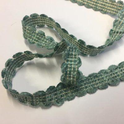 aqua green chenille gimp braid from LG