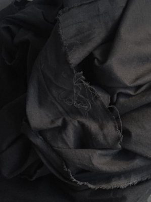 black linen, viscose, sorona and cotton floppy lightweight mix