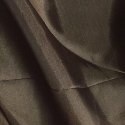 brown cupro breathable and slinky dress lining fabric