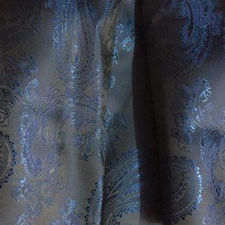 blue paisley shot coat lining