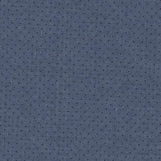 Chambray Blue pinspot print heavy cotton shirting