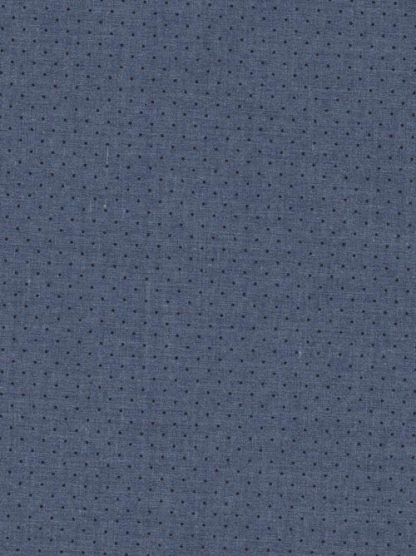 Chambray Blue pinspot print heavy cotton shirting