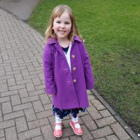 foxglove purple felted wool child's coat