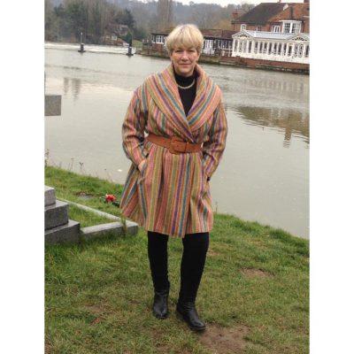 LG multicolour stripe tweed coat