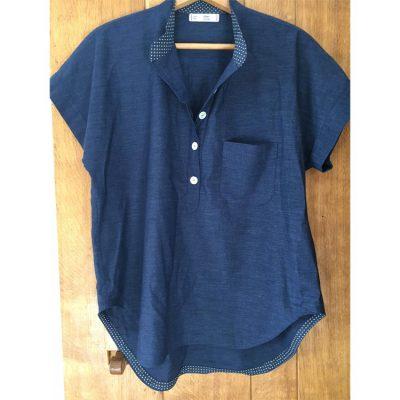 Sorona and Linen mix closet case patterns Kalle Shirt
