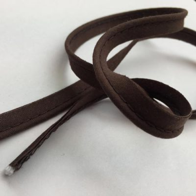 chocolate brown ready made piping trim