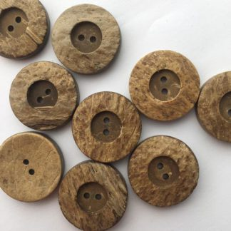 coconut wood rimmed button