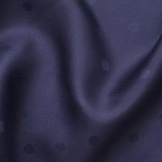 navy polka dot jacquard acetate coat lining