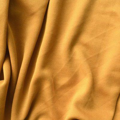 ochre mustard yellow sandwashed modal jersey