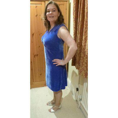 bluebell velour stretch dress