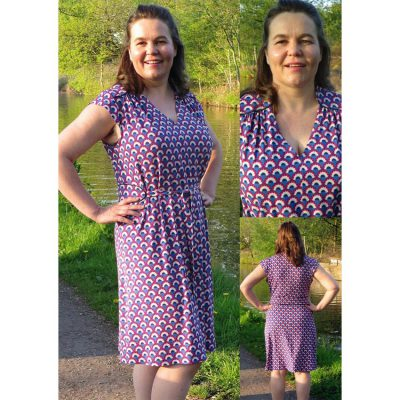 sundowner print viscose crepe jersey knip mode dress