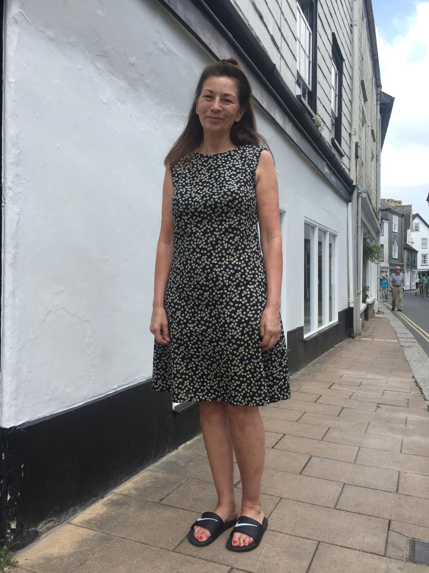 indigo blossom print japanese cotton francoise dress from Tilly and The Buttons