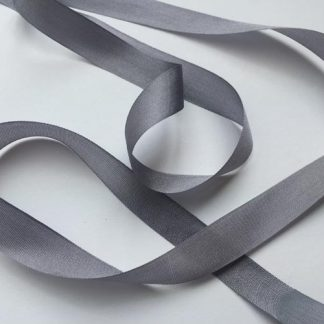 Pewter Grey 13mm pure silk ribbon