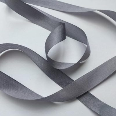 Pewter Grey 13mm pure silk ribbon
