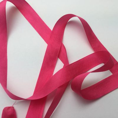 fuchsia pink 13mm wide silk ribbon