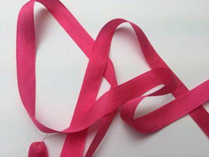 fuchsia pink 13mm wide silk ribbon