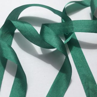 Bottle Green 13mm Pure Silk Ribbon