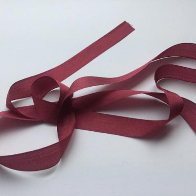 burgundy bordeaux red 13mm pure silk ribbon