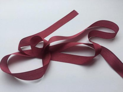 burgundy bordeaux red 13mm pure silk ribbon