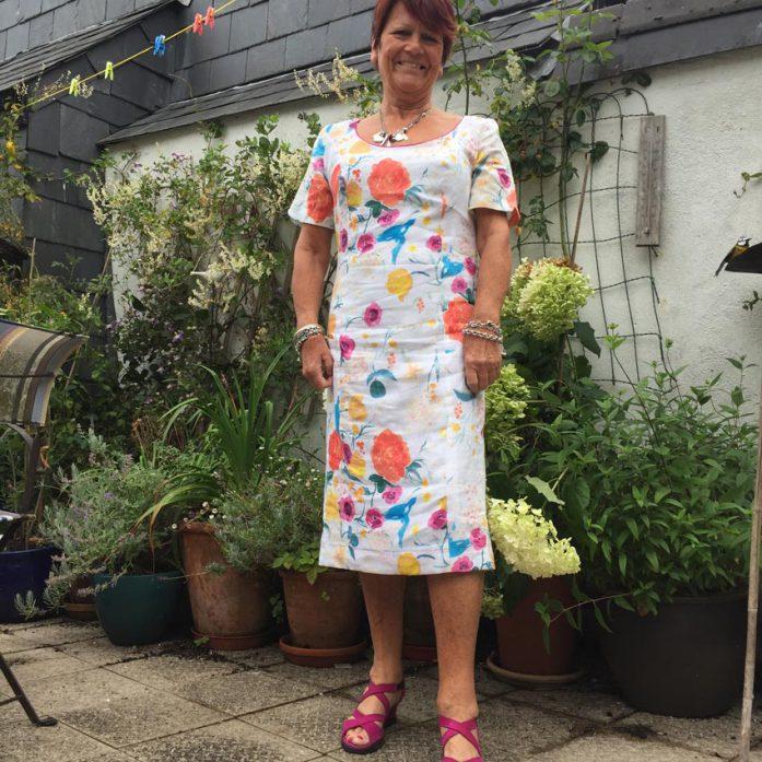 Japanese nani IRO printed linen shift dress