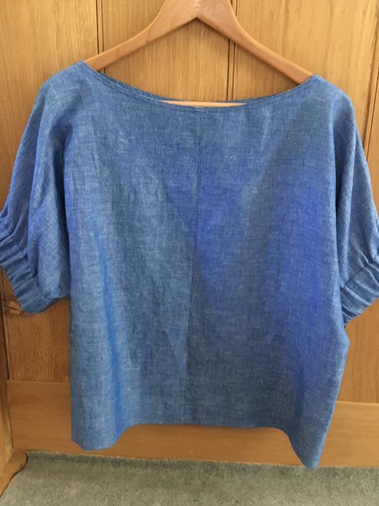 Washed Linen Cuff Top