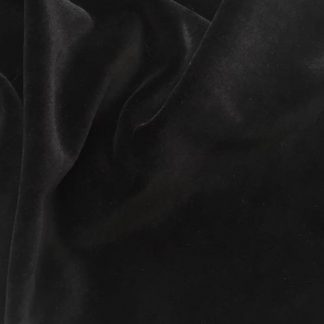 black cotton velour
