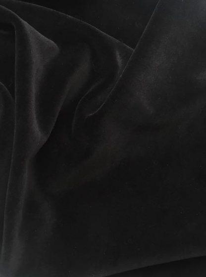 black cotton velour