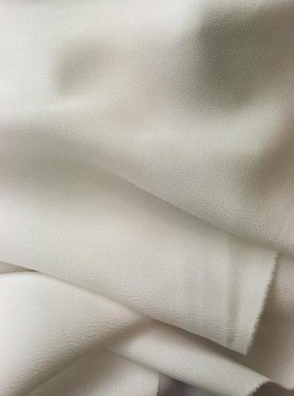 Ivore silk and acetate crepe de chine