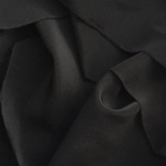 Black 100% Silk Crepe de Chine