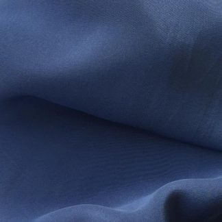 Denim Blue Silk Crepe de Chine
