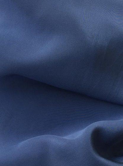 Denim Blue Silk Crepe de Chine
