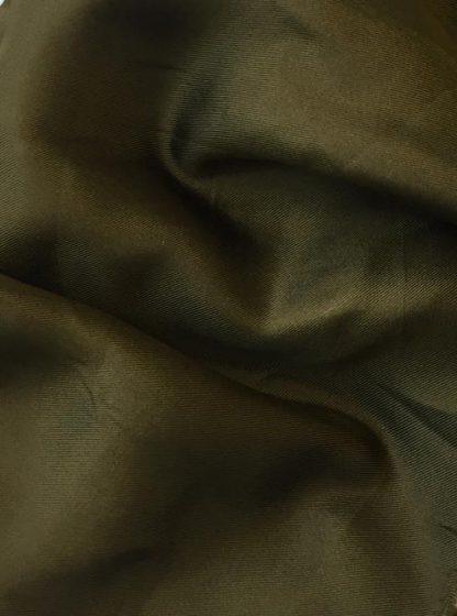 Olive Green Silk Twill