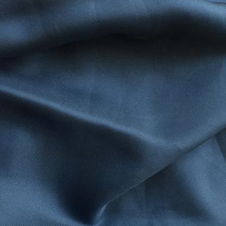 denim blue silk twill
