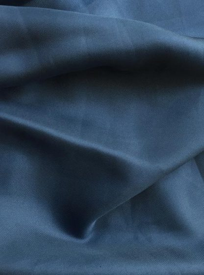 denim blue silk twill