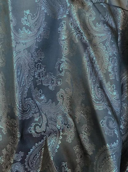 denim blue jacquard paisley coat lining