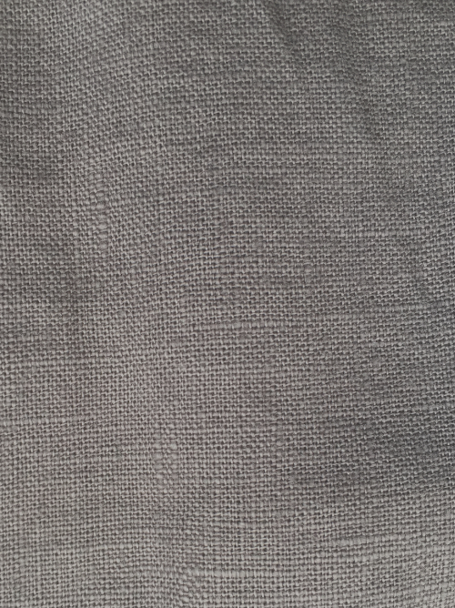 mid grey heavy washed linen