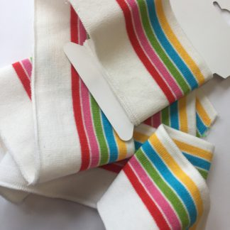 rainbow stripe cotton elasticated cuffing