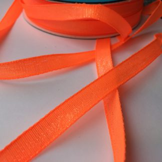 neon orange iridescent ribbon