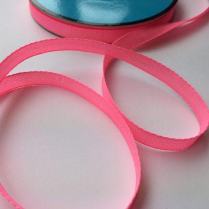 neon pink iridescent ribbon