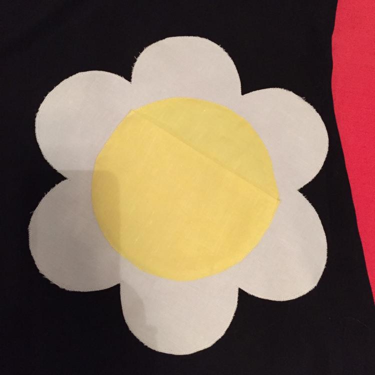 mary quant dress with daisy pocket (detail)