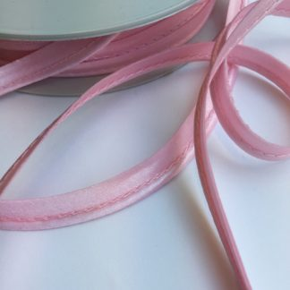 Pale pink ready made satin piping