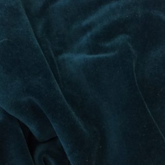 teal blue green cotton rich velour stretch velvet