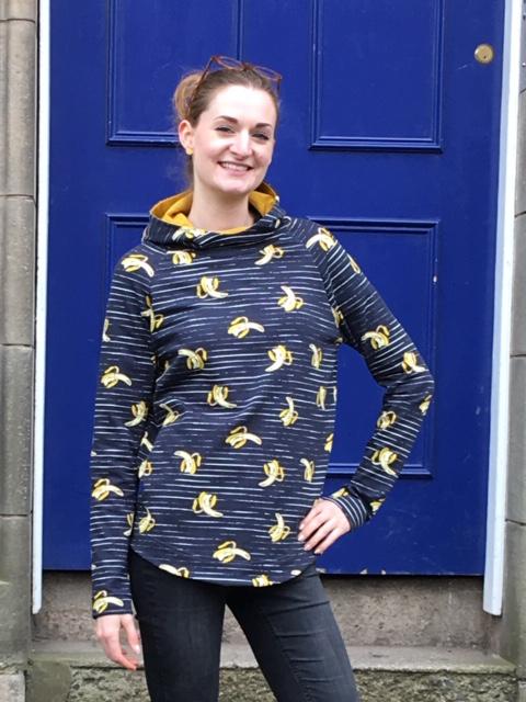 banana print cotton sweatshirting
