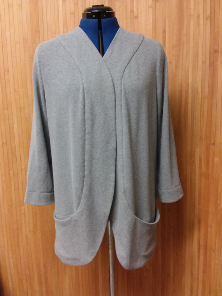 Grey cotton mix loose fit cardigan
