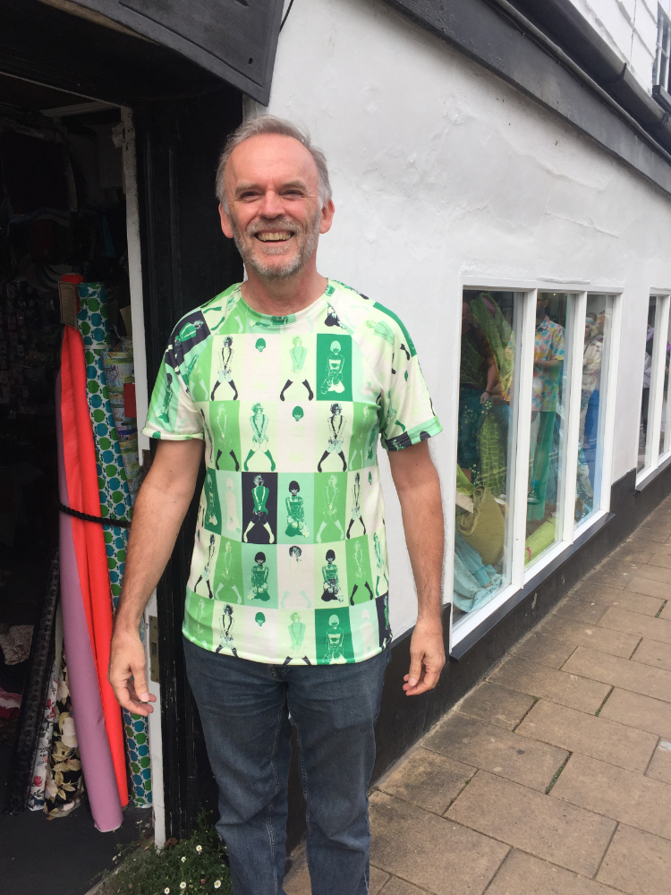 green popart print jersey t-shirt simplicity 8613