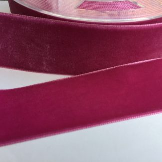 fuchsia pink high density polyester velvet trim 38mm wide