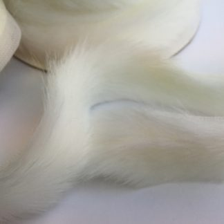 winter white double flange faux fur trim