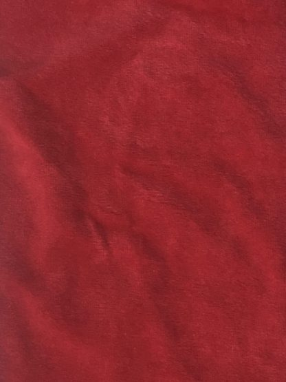 Wine Red cotton rich stretch velour velvet