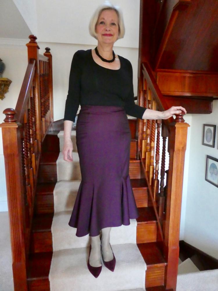 wool and mohair fishtail skirt Burda 6834