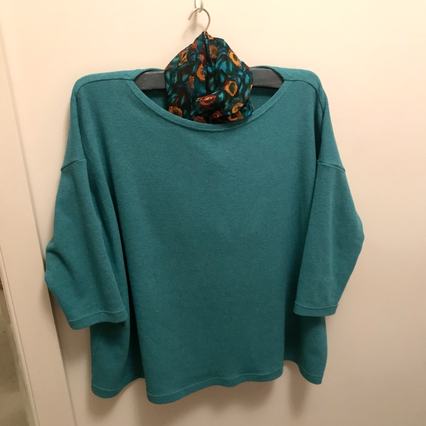 cotton mix jumper knit mandy boat tee by Tessuti